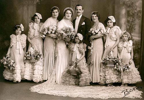 6cef6a316ec ... Свадебные платья и невесты 1930 годов