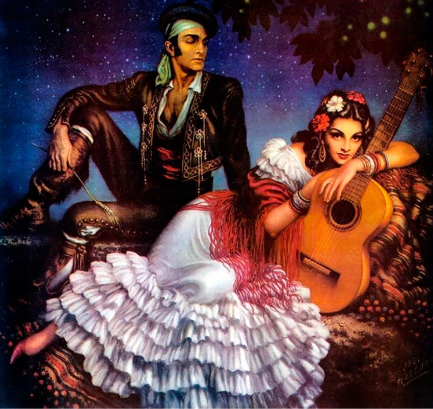 Женский национальный костюм Мексики