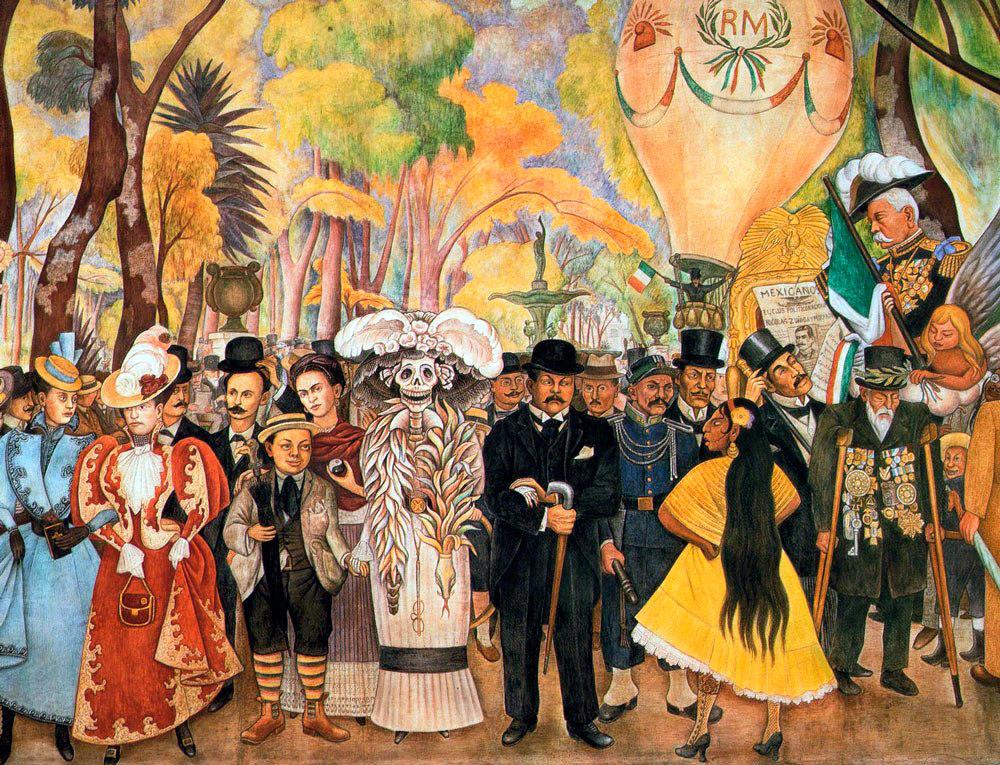 Женский и мужской национальный костюм Мексики