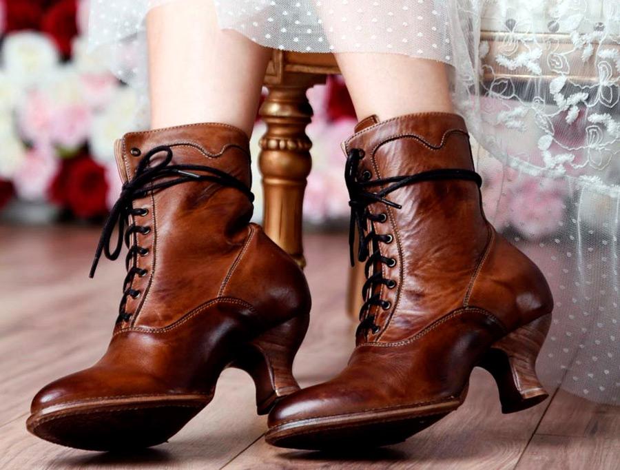 Викторианские сапожки для готических и модных образов