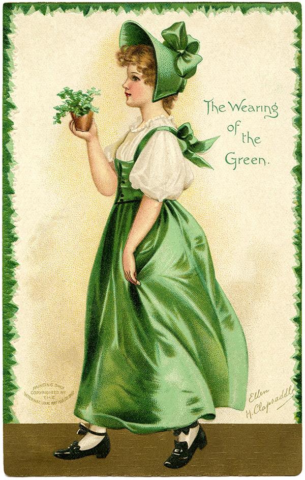 Будь, открытки в ирландском стиле