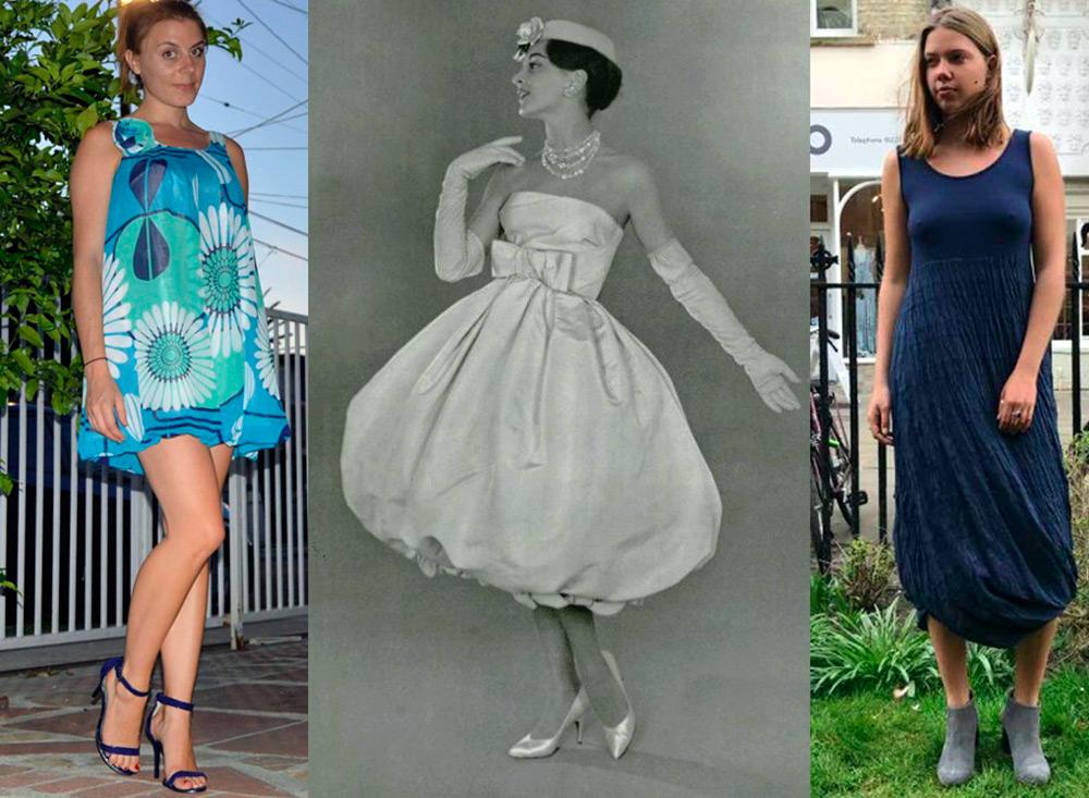 Платье-баллон – кому подходит и как носить