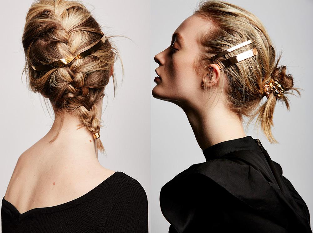 Золотые украшения для волос – модная тенденция