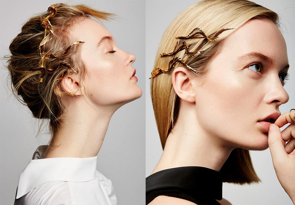 Золотые украшения для волос