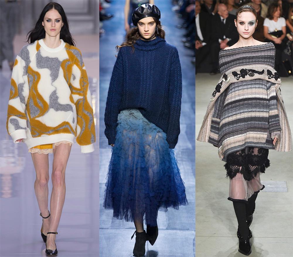 Модные женские свитера 2017