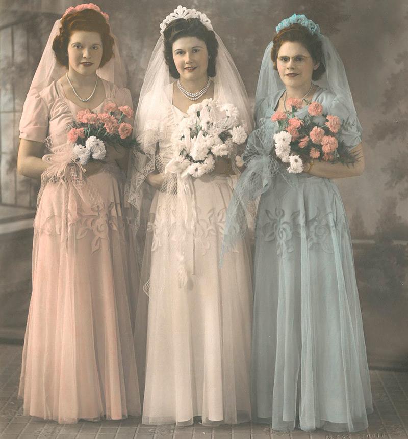 Свадебные платья 1940 годов