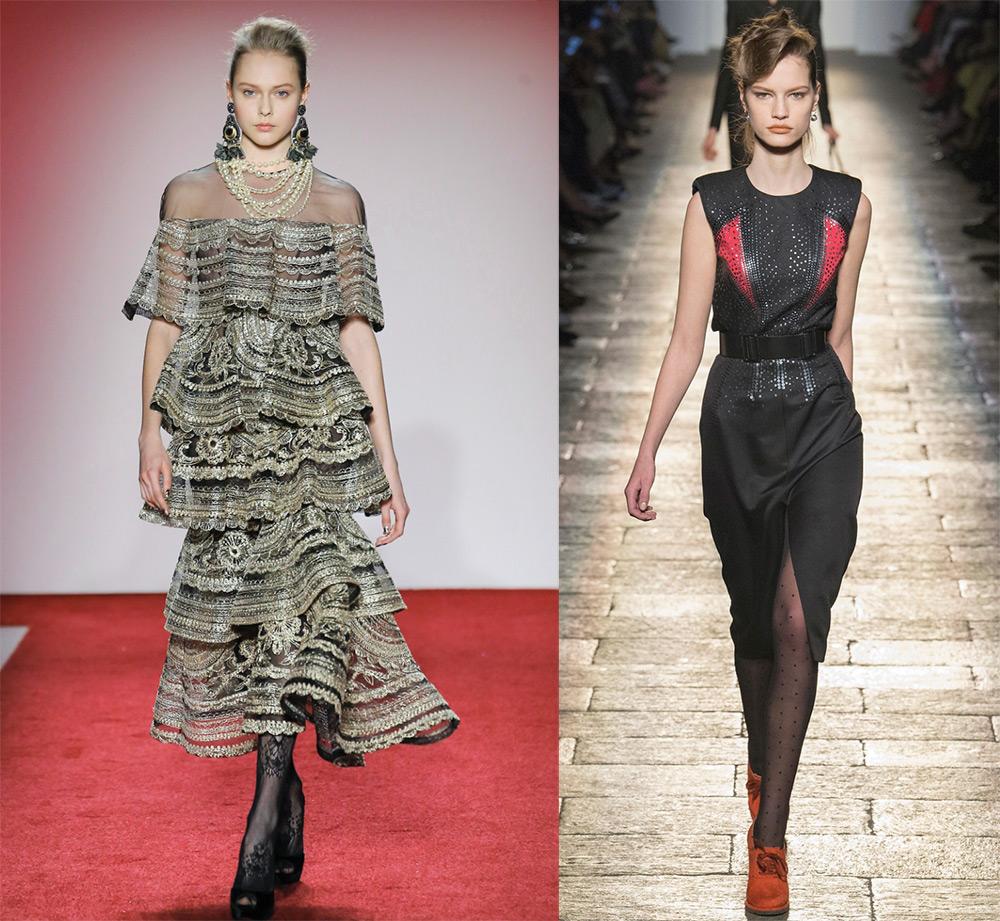 какие платья в моде 2018