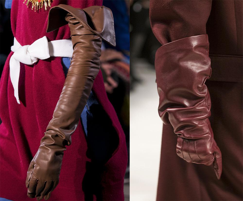 Перчатки с расклешенными манжетами