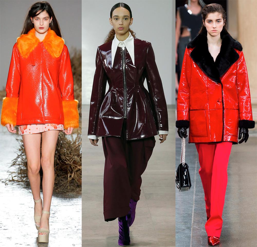 Куртки из лакированной кожи