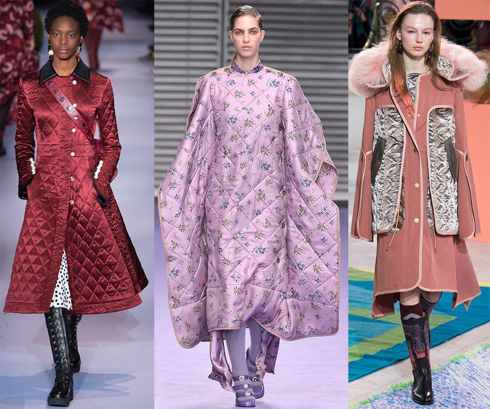 Стеганое пальто осень-зима