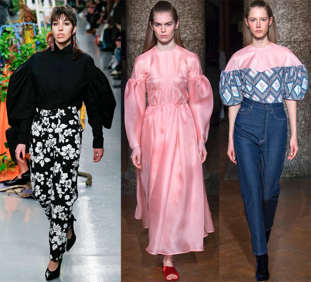 Модная тенденция объемные рукава