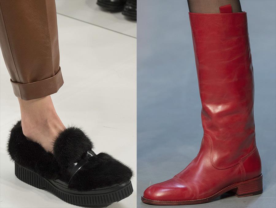 Женская обувь на низком каблуке