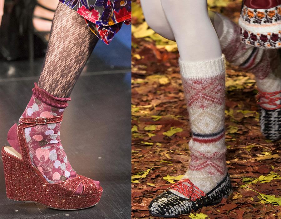 Обувь и носки модная тенденция