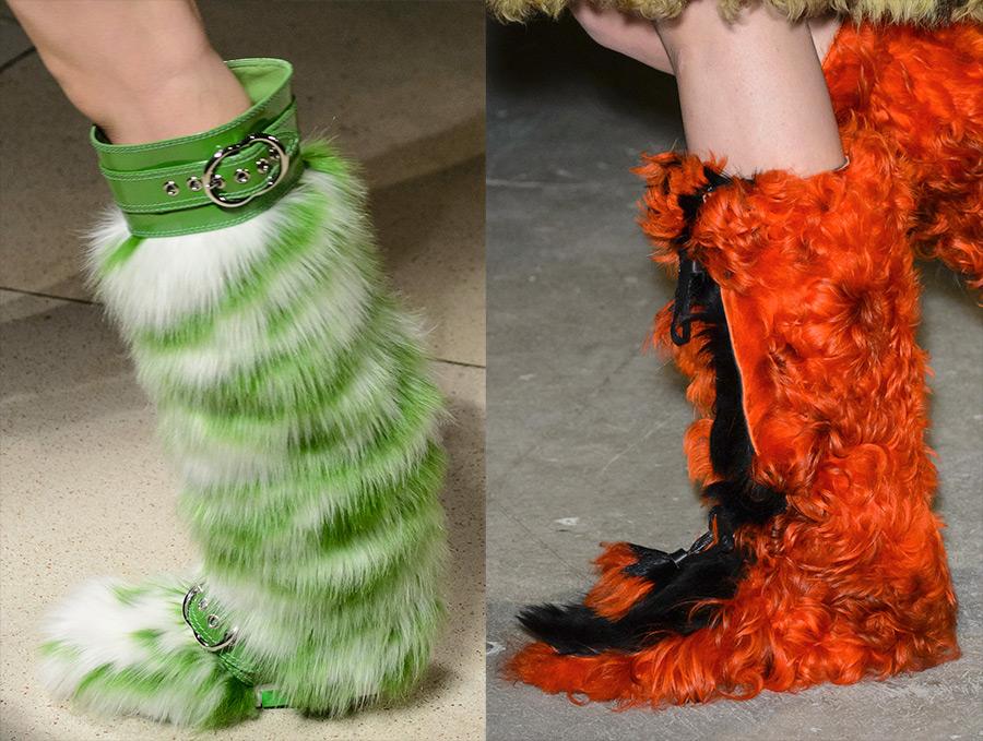 Женская обувь с мехом