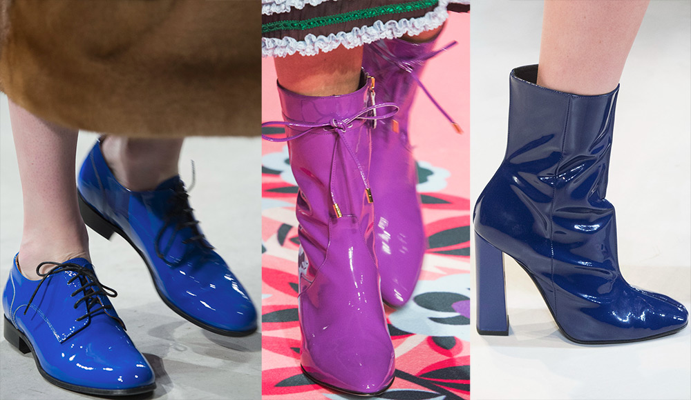 Лакированная женская обувь 2017-2018