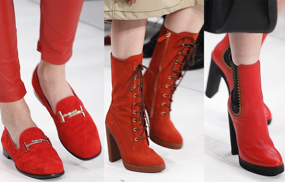 Красная женская обувь 2017-2018