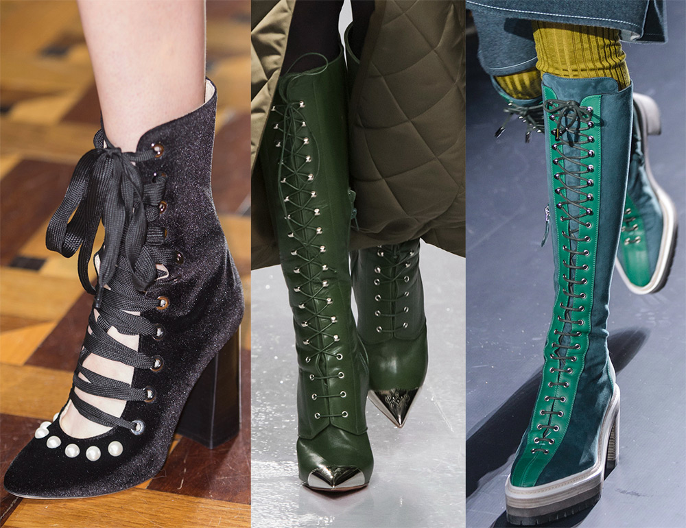 Женская обувь со шнуровкой