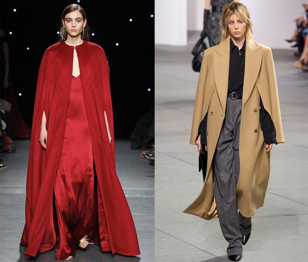 Модные кейпы и другие пальто-накидки 2017-2018