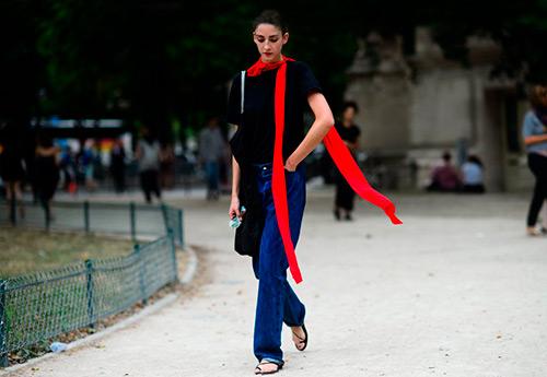 С чем носить длинный узкий шарф – красивые сочетания