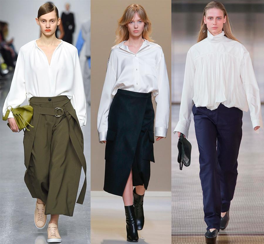 Белые рубашки и блузки 2017-2018