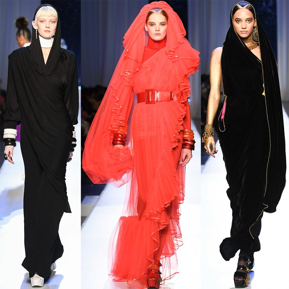 Черные и красные платья на Хэллоуин