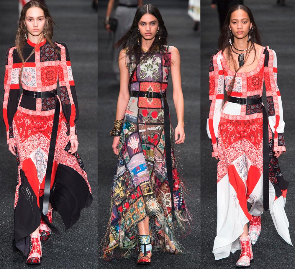 Яркие цветные платья с принтом пэчворк