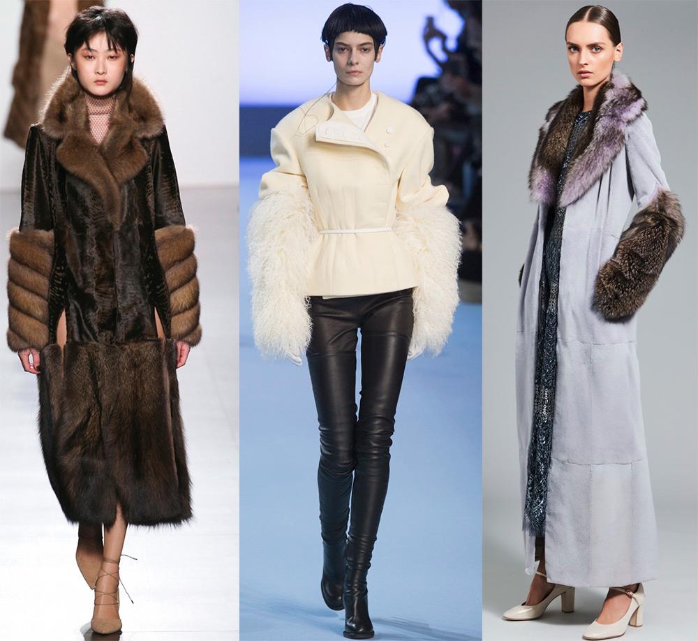 Меховые рукава – модная тенденция 2017-2018