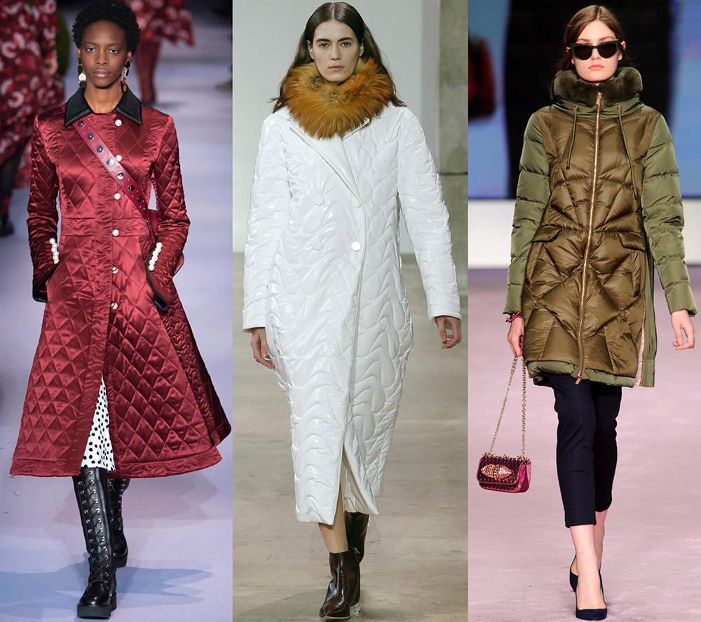 Модные стеганые куртки и женские пальто