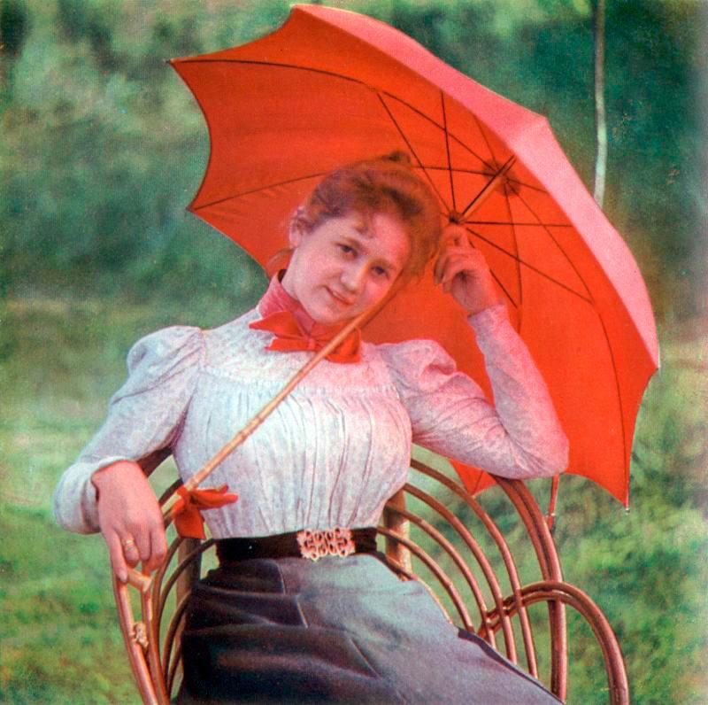 Женская мода 1900-1910 годов в цветных фотографиях