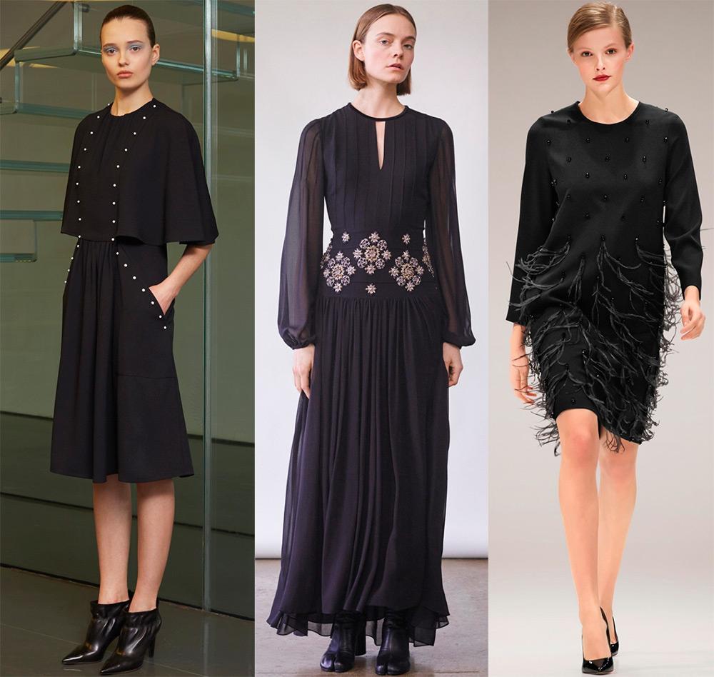 Красивые черные платья и модные тенденции