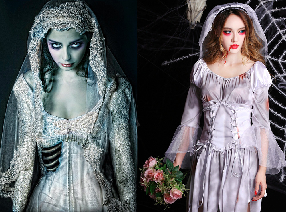 Свадебное платье на Хэллоуин – образ невесты