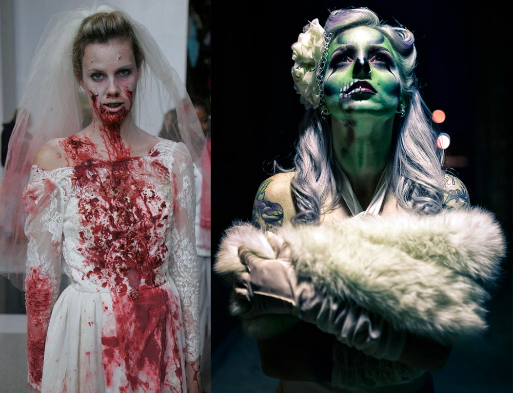 Невеста на Хэллоуин идеи образов