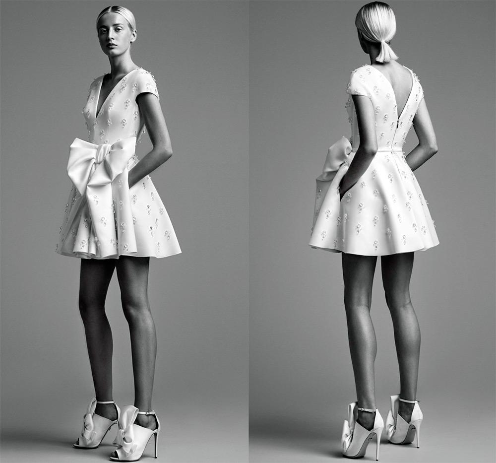Короткое свадебное платье Viktor & Rolf