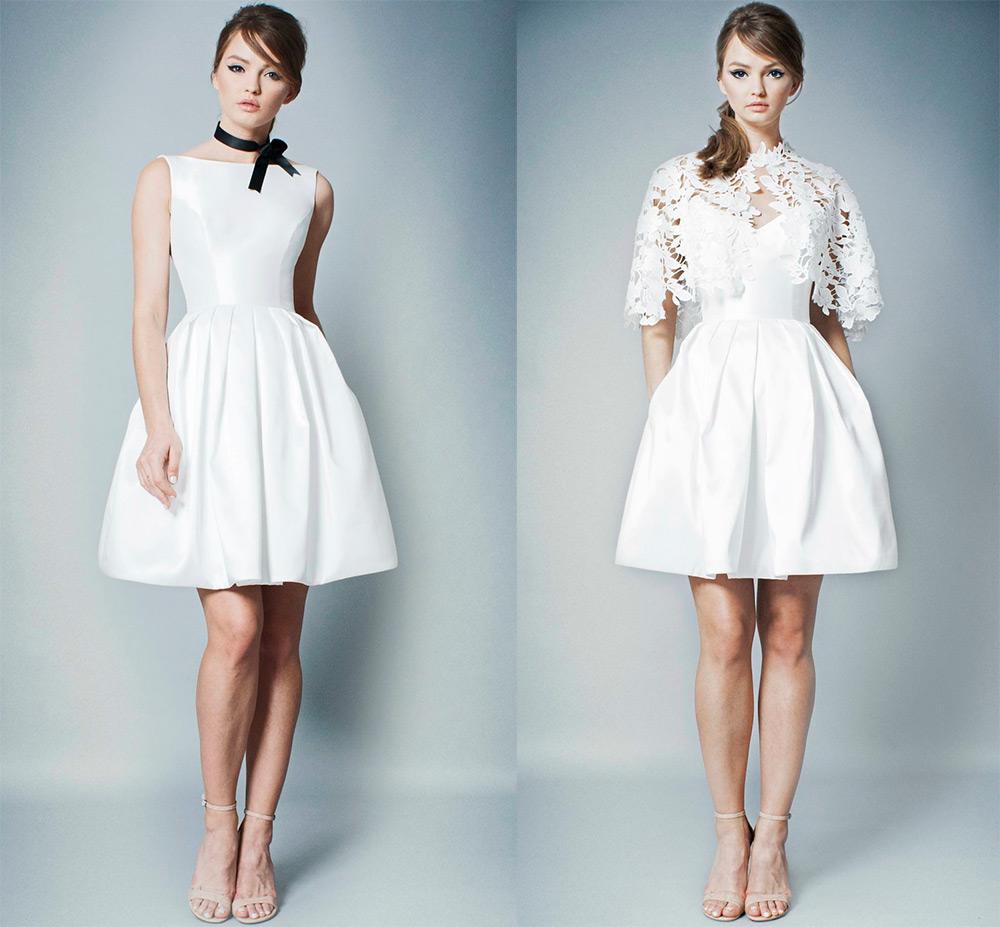 Короткие свадебные платья: модные тенденции – 2019 новые фото