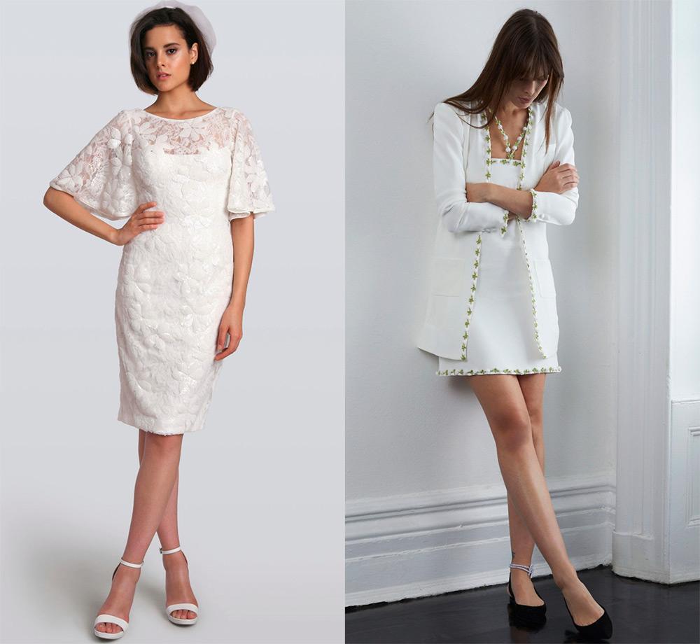 Короткие свадебные платья 2018-2019 – фото и тенденции