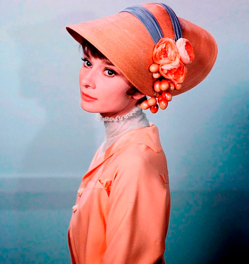 Женские шляпы 1950-1960 – фото образов Одри Хепберн изоражения
