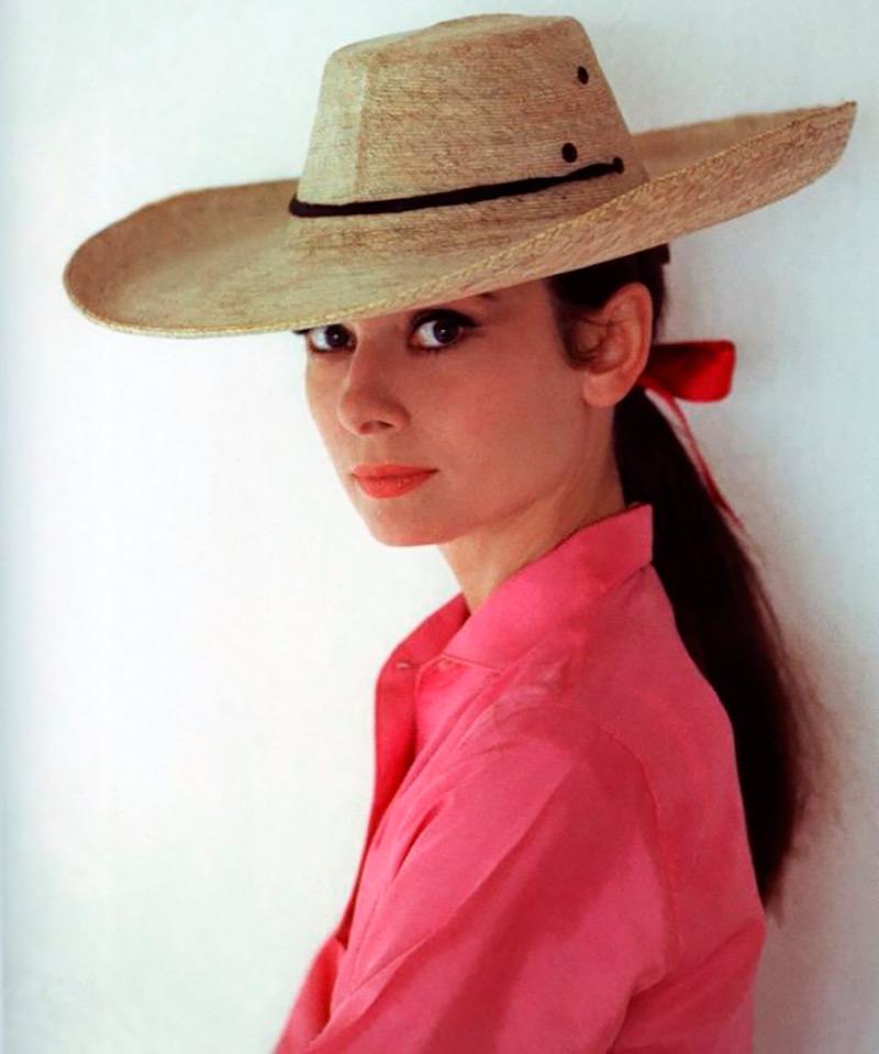 Женские шляпы 1950-1960 – фото образов Одри Хепберн картинки
