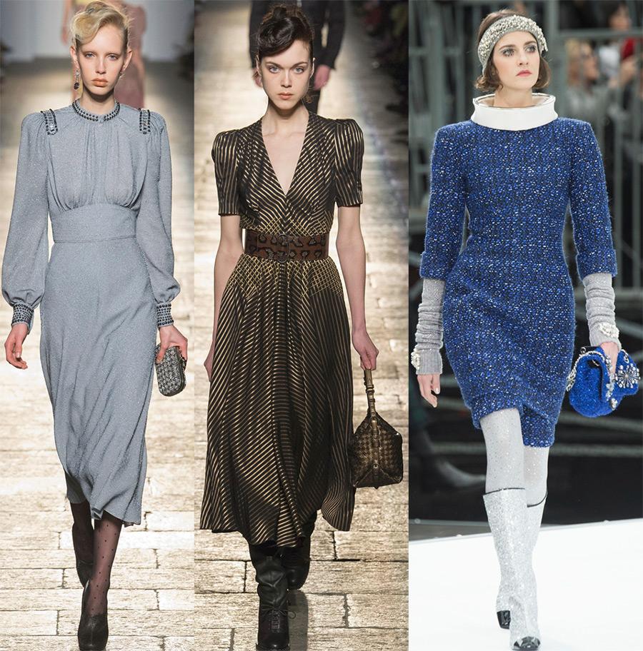 Стильные зимние платья 2019