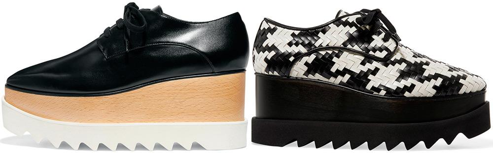 Туфли в мужском стиле на флатформе
