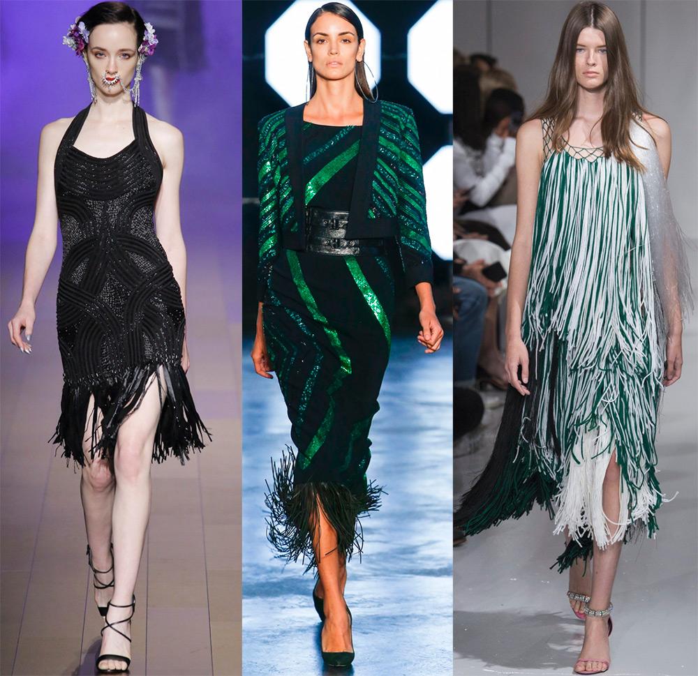 f213412e59c Платья с бахромой – фото лучших модных моделей