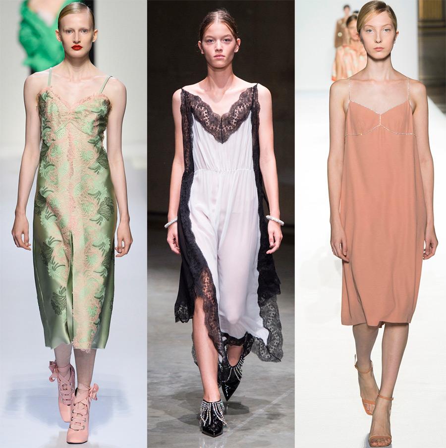 Модное платье в бельевом стиле 2018