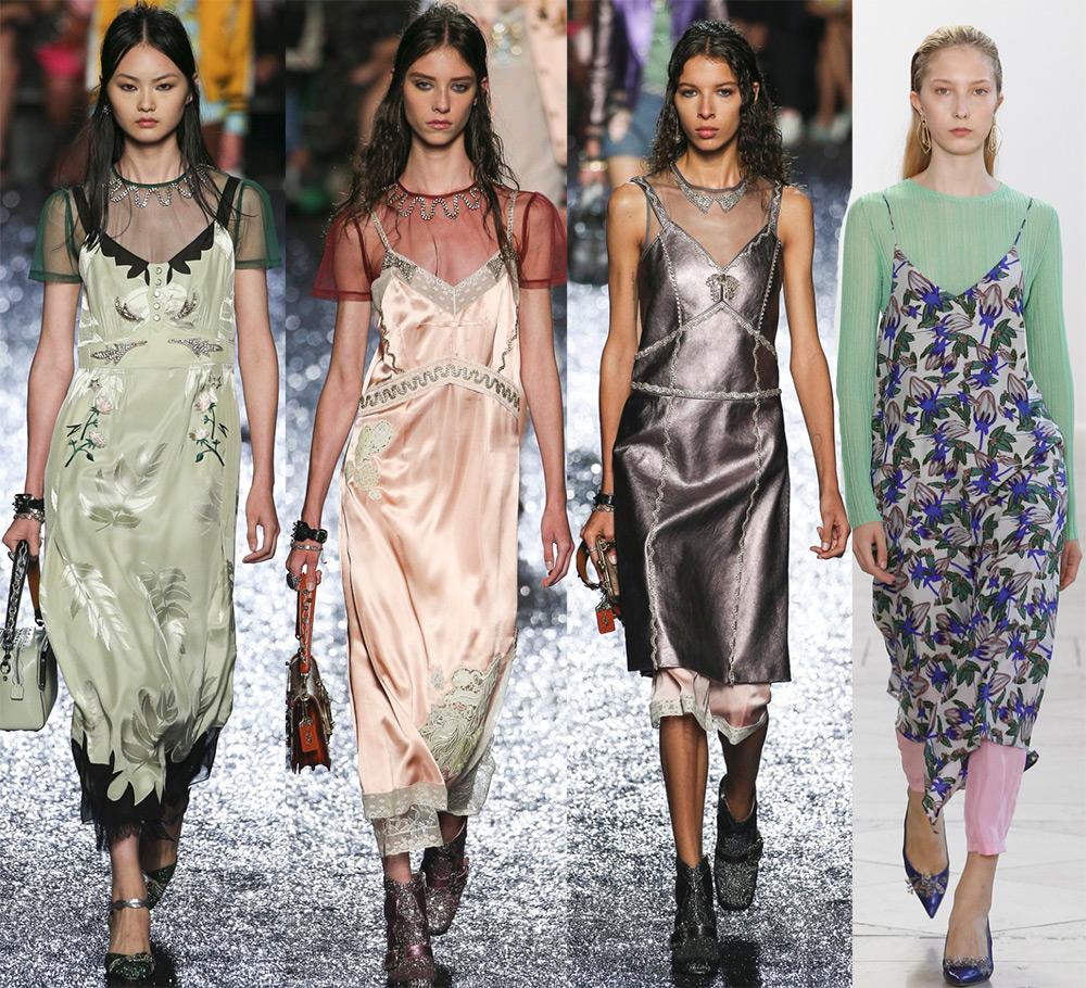 Красивые платья в бельевом стиле