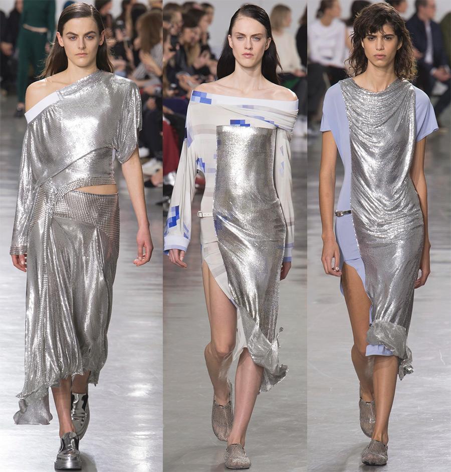 Блестящие платья Paco Rabanne 2018
