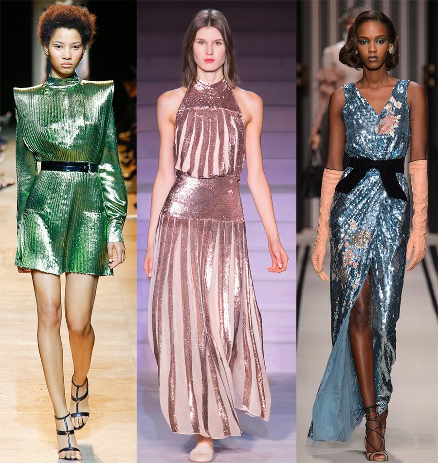 Самые красивые блестящие платья