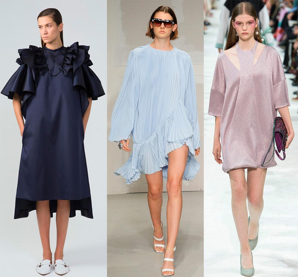 Модные платья свободного кроя