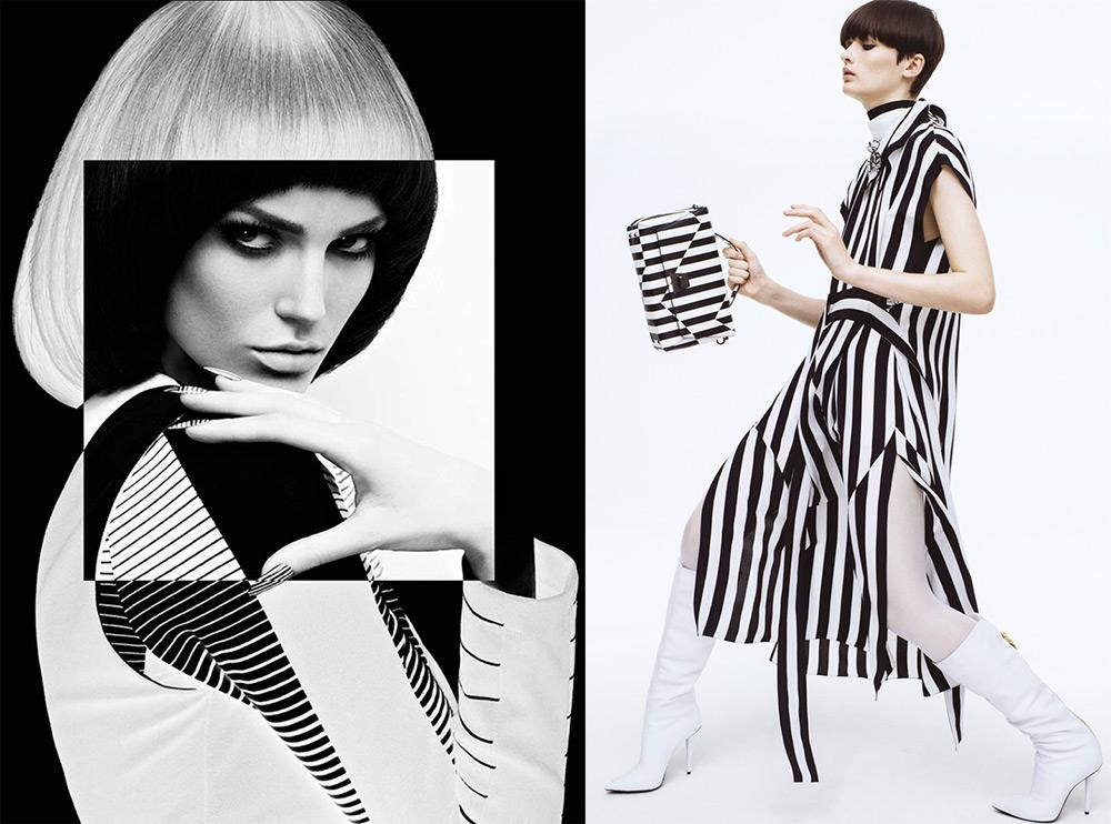 Черно-белые образы для девушек