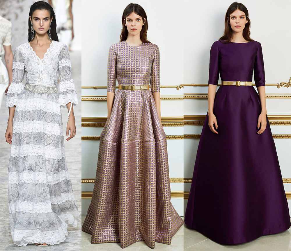 скромные платья 2018 года