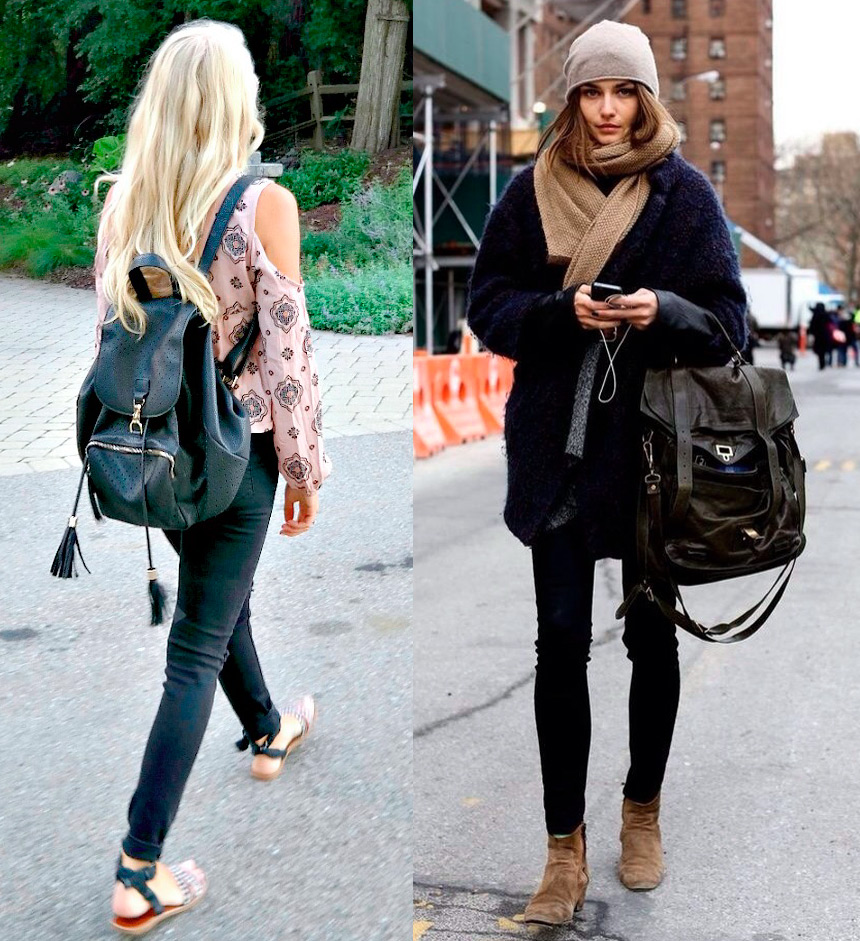 С чем носить рюкзаки девушкам