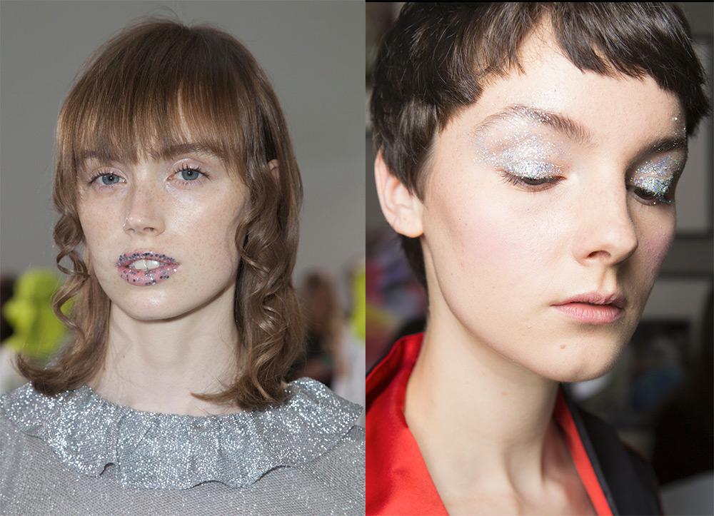 Идеи макияжа со стразами и пайетками