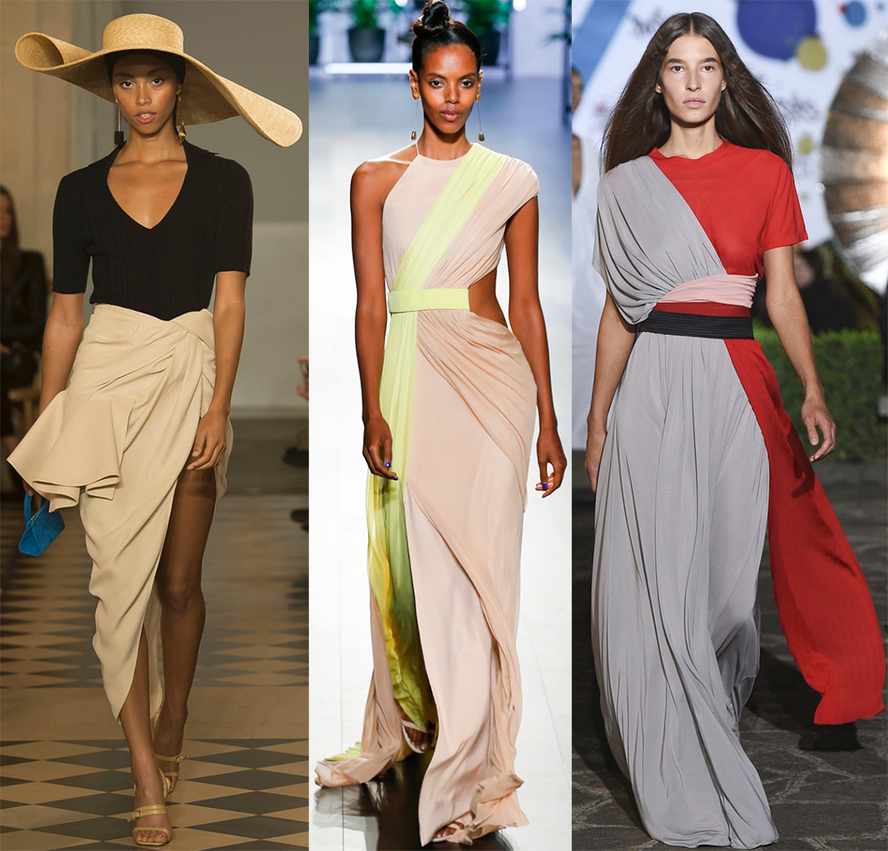 Драпировка в модной одежде